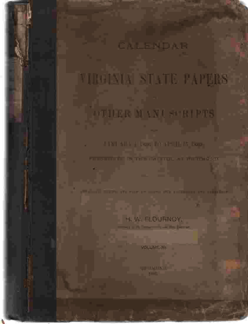 Image for Calendar of Virginia State Papers and Other Manuscripts from January 1, 1836 to April 15, 1869 Volume XI.