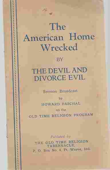 Image for The American Home Wrecked By The Devil and Divorce Evil