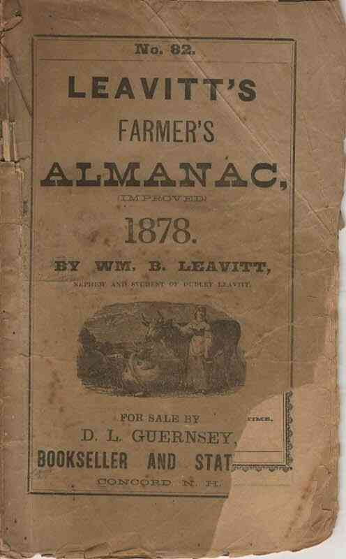Image for Leavitt's Farmer's Almanac, 1878, no.82
