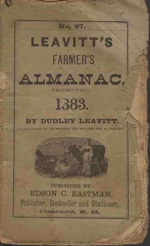Image for Leavitt's Farmer's Almanac, 1883 No. 87