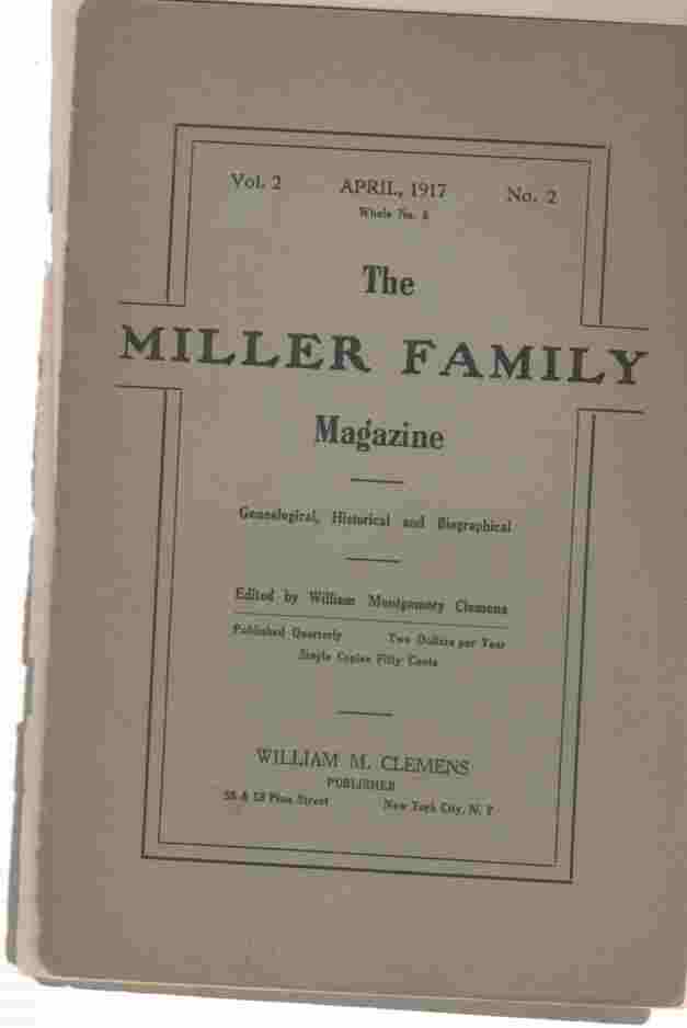 Image for The Miller Family Magazine, April 1917