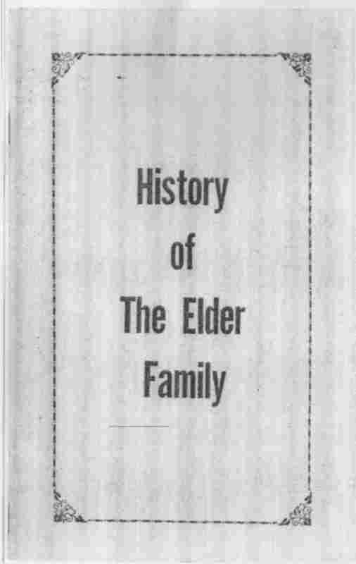 Image for History of the Elder Family (photocopy only)