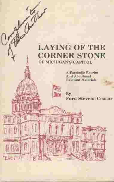 Image for Laying of the Corner Stone of Michigan's Capitol on the 2nd day of October 1873