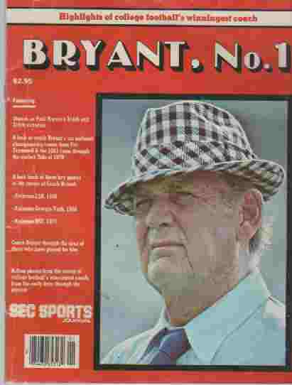 Image for Bryant, No. 1, Highlights of college Footballs's winningest coach