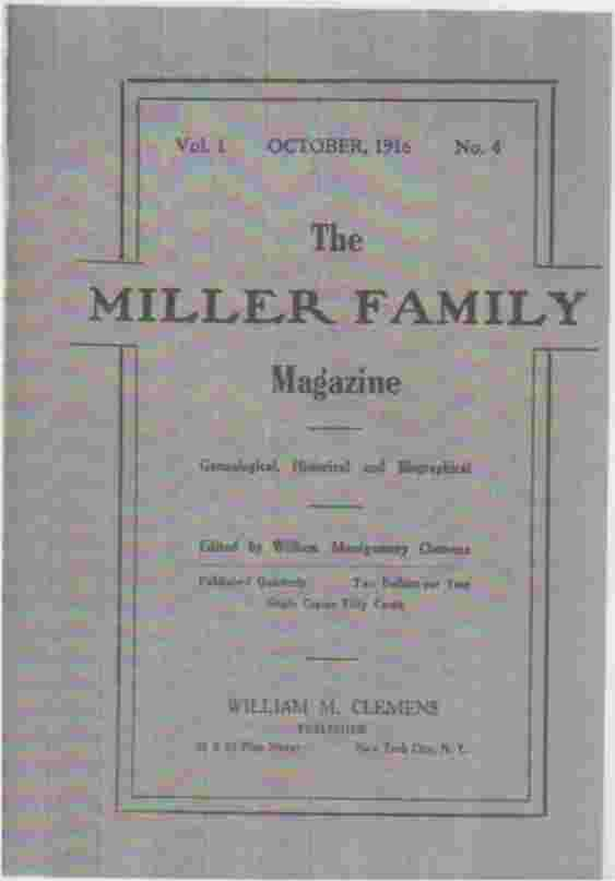 Image for The Miller Family Magazine, October, 1916, Vol 1, No 4