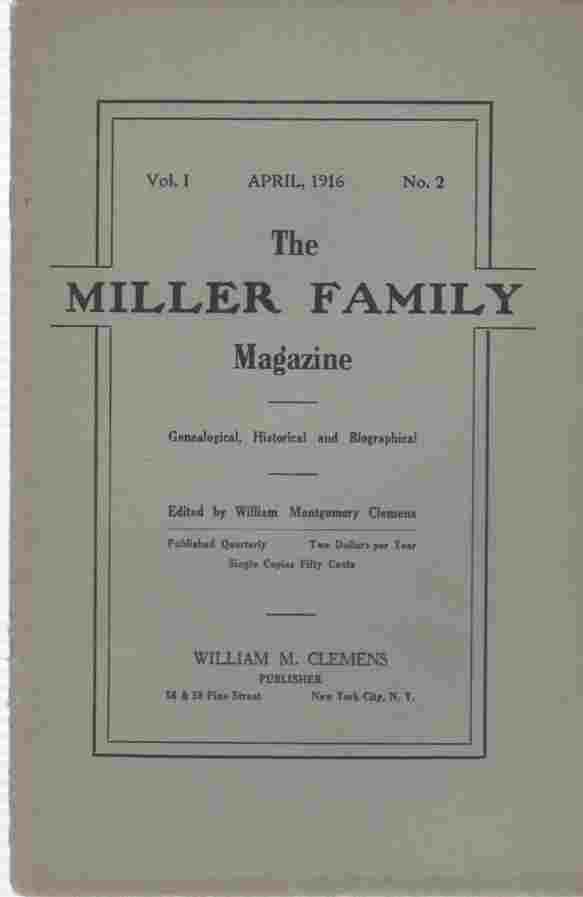 Image for The Miller Family Magazine, April 1916, Vol 1, No. 2