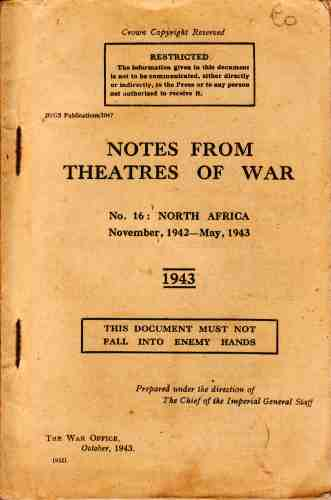 Image for Notes from Theatres of War, No 16  North Africa, November 1942-May 1943
