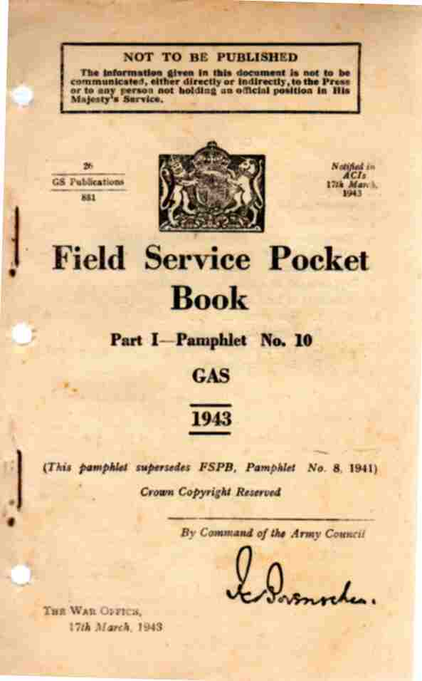 Image for Field Service Pocket Book, Part 1- Pamphlet No 10, GAS