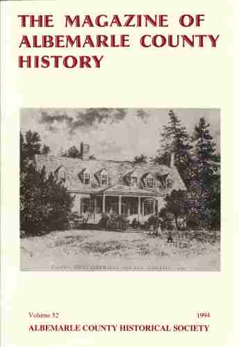 Image for THE MAGAZINE OF ALBEMARLE COUNTY HISTORY Volume 52 1994