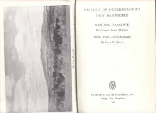 Image for History of Peterborough New Hampshire in Two Volumes. Volumes I   & II (Genealogies).