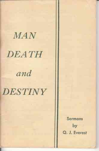 Image for Man, death and destiny