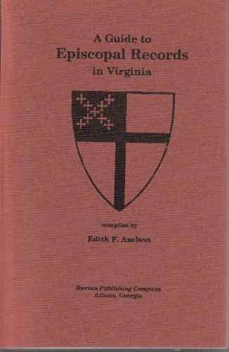Image for A guide to Episcopal Church records in Virginia