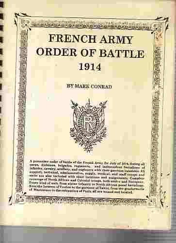 Image for French army order of battle 1914