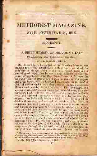 Image for The Methodist Magazine for February, 1816