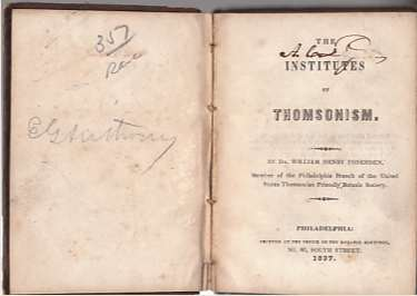 Image for The Institutes of Thomsonism