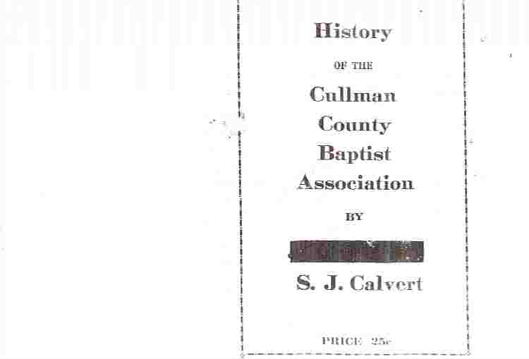 Image for History of the Cullman County Baptist Association (Alabama)