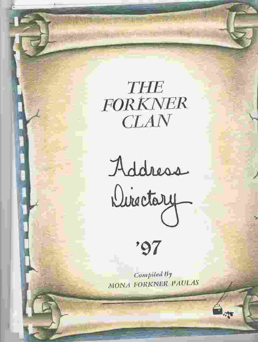 Image for The Forkner clan  Address directory (photocopy)