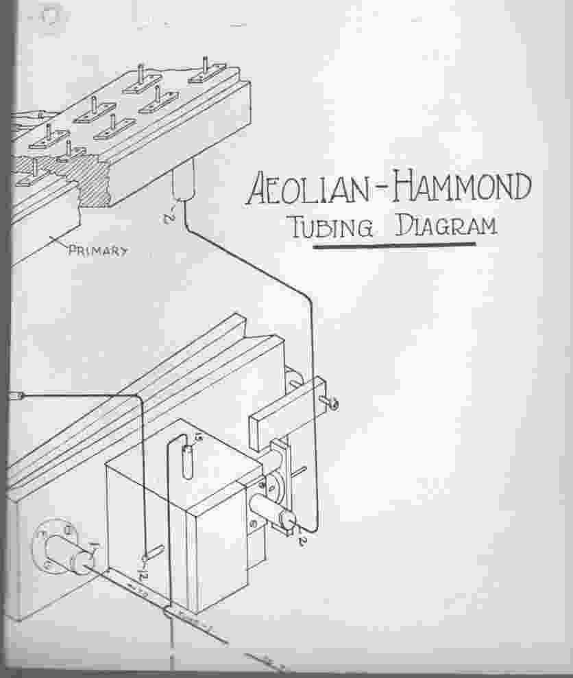 Image for Aeolian-Hammond Organ Tubing Diagram and Service Bulletin # 1