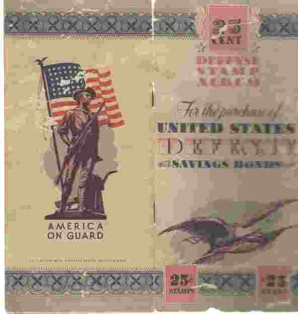 Image for United States Defense Savings Bonds Stamp Album w/ stamps 1942