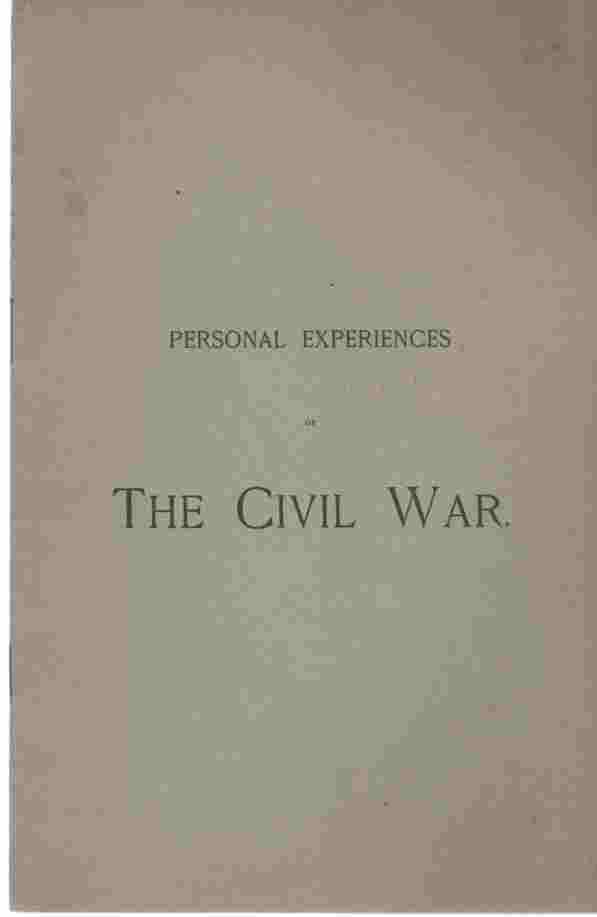 Image for Personal experiences of the Civil War