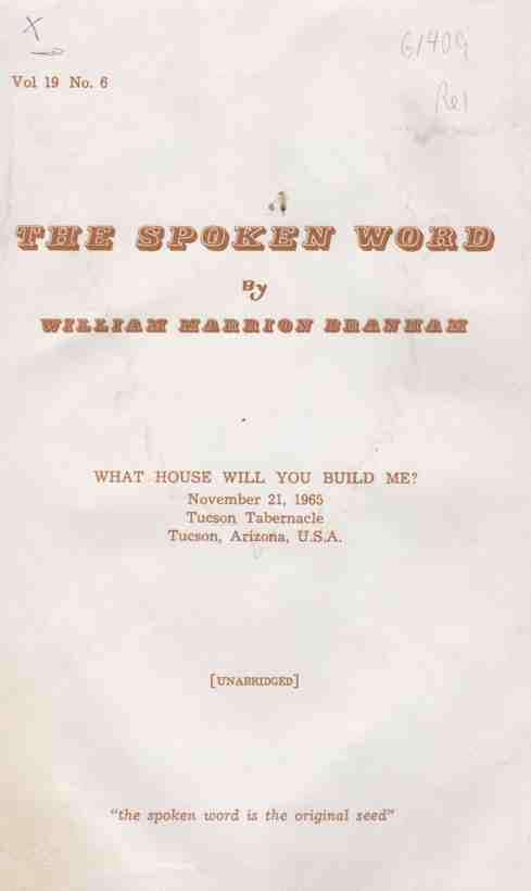 Image for The Spoken Word, Vol 19, No. 6 What House Will you Build Me?