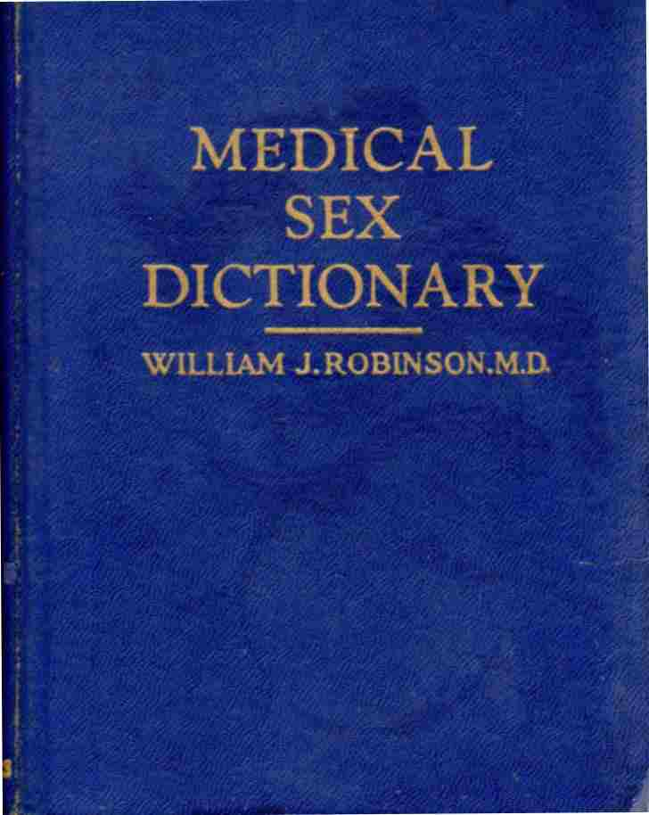 Image for Medical and sex dictionary,