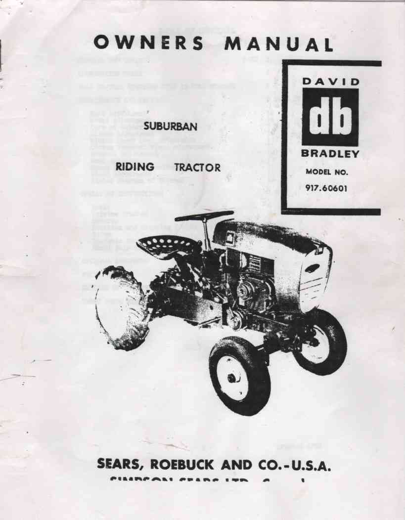 Image for Owners Manual Suburban Riding Tractor