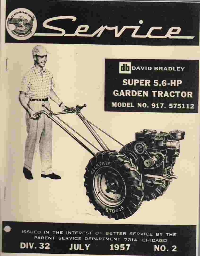 Image for David Bradley Super 5.6 HP Garden Tractor,  No 917.575112 Setting up and operating instructions and parts list for Transmission, Chassis, Speed Changer, etc.