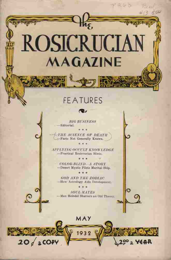 Image for The Rosicrucian Magazine May, 1932, Vol 24 No. 5 Rays from the Rose Cross