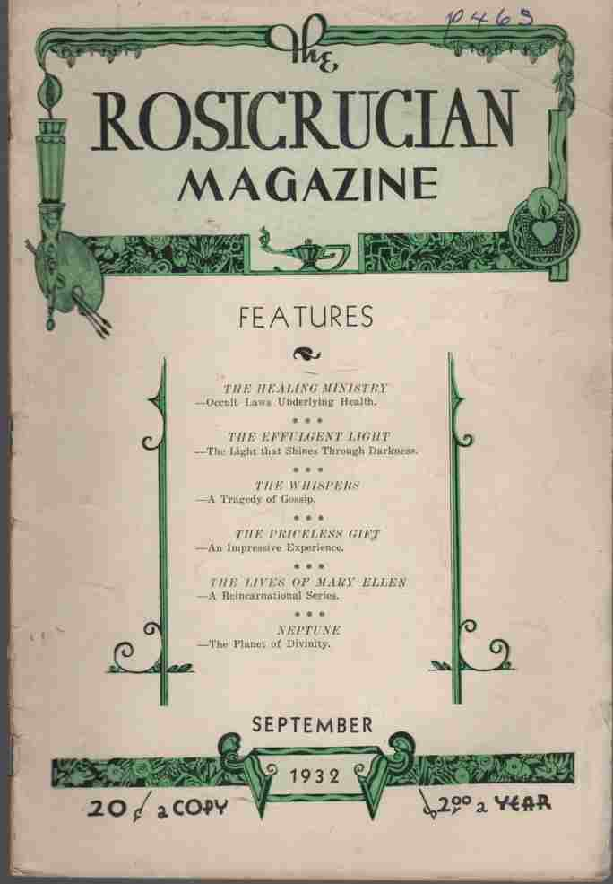 Image for The Rosicrucian Magazine September, 1932, Vol 24, No. 9 Rays from the Rose Cross