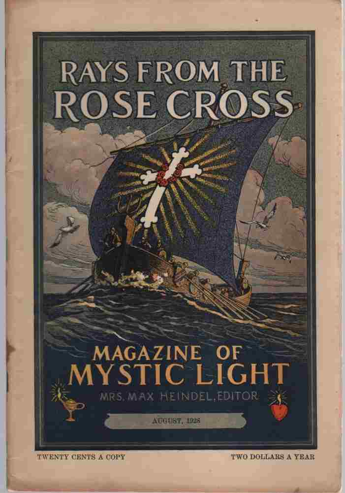 Image for Rays from the Rose Cross; a Magazine of Mystic Light, August 1928, Vol. 20, No. 8