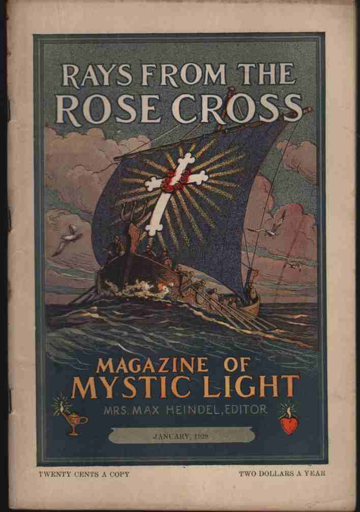 Image for Rays from the Rose Cross; a Magazine of Mystic Light, January 1929, Vol. 21, No. 1