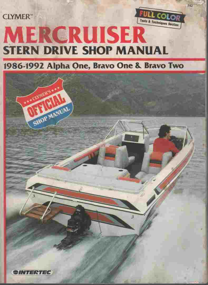 Image for Mercruiser Stern Drive Shop Manual : 1986-1992 Alpha One, Bravo One & Bravo Two