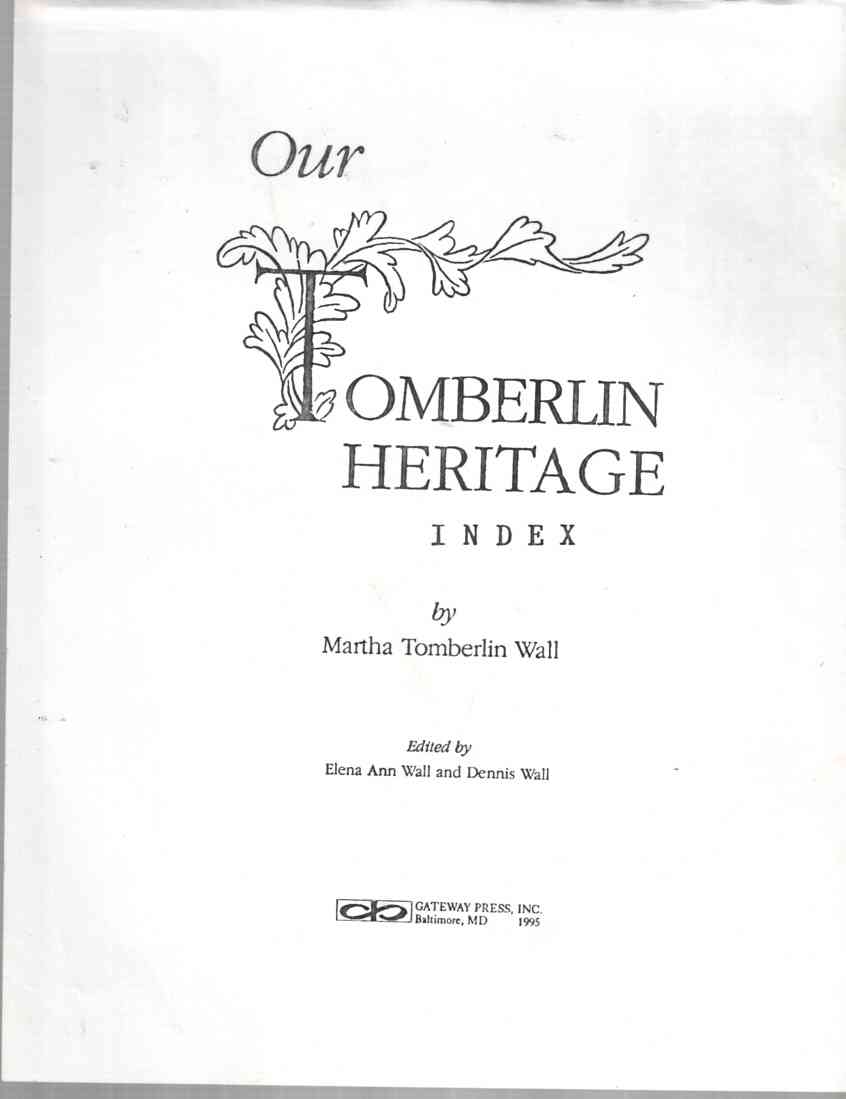 Image for Our Tomberlin heritage (Index)