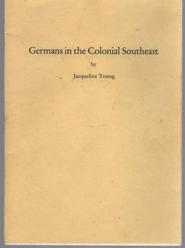Image for Germans in the Colonial Southeast