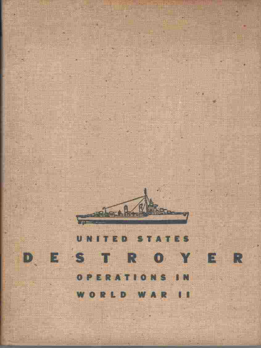 Image for United States Destroyer Operations in World War II