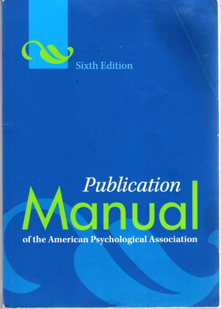 Image for Publication Manual of the American Psychological Association, 6Th Edition