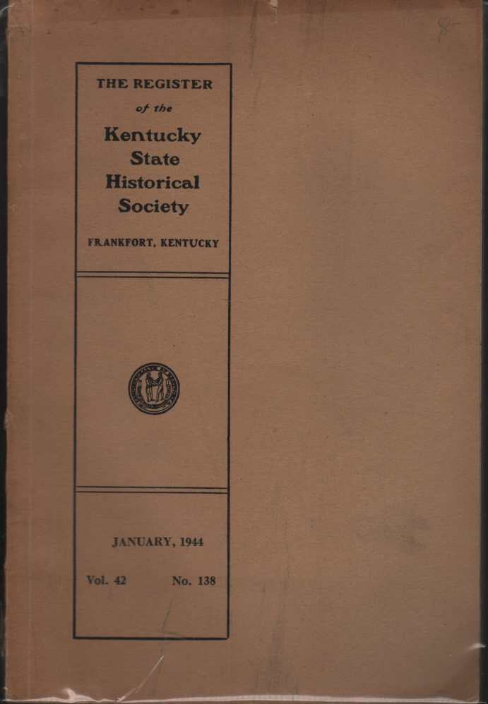 Image for The Register of the Kentucky Historical Society Vol.42 No. 138 January 1944